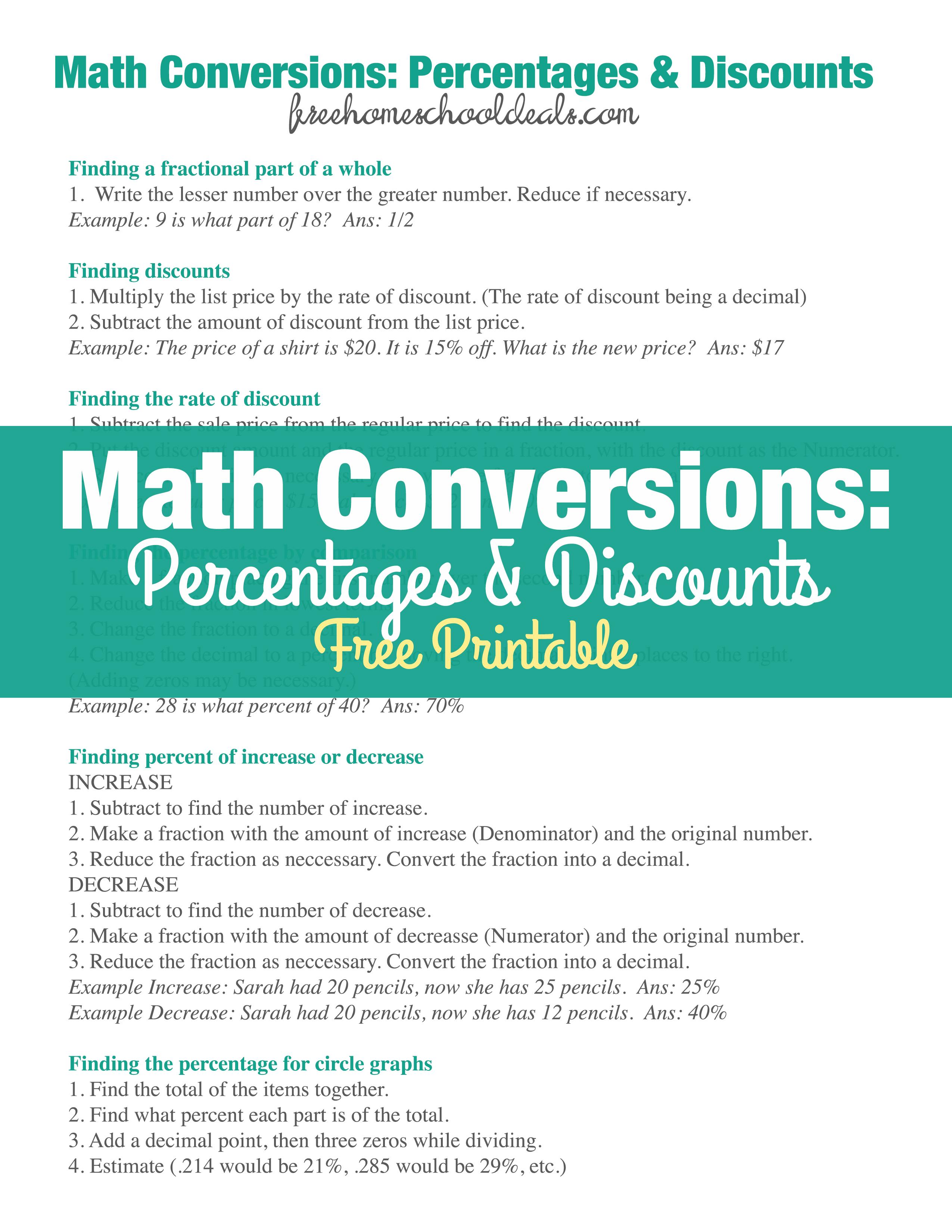 Similiar Math Conversions Keywords